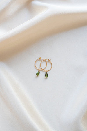 Birthstone Tourmaline Earrings Gold