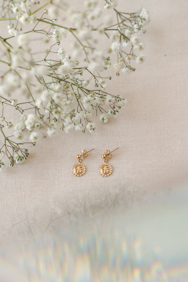 Sun Worshipper Earrings Gold