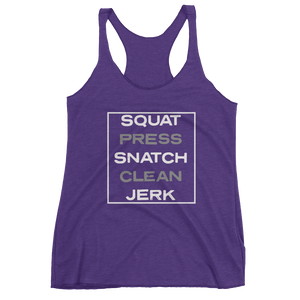 "WOMEN'S ""LIFTS"" TANKS - PURPLE"