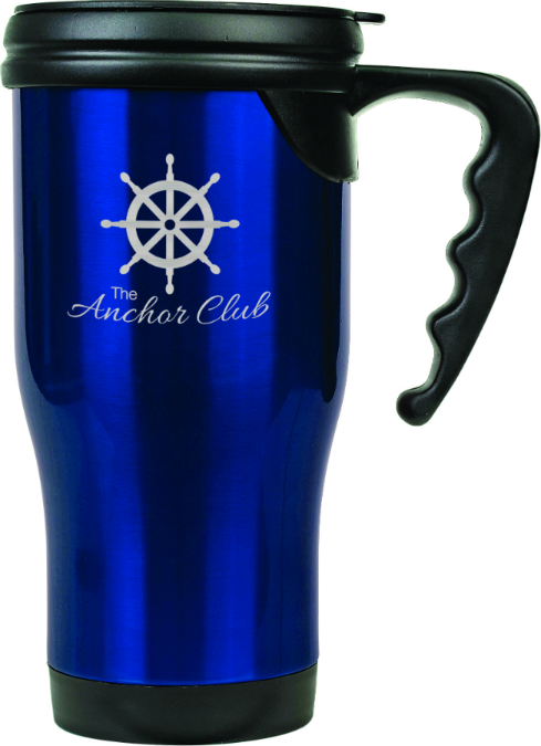 Blue Travel Tumbler with Handle