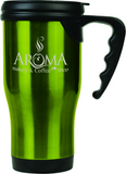Green Travel Tumbler with Handle