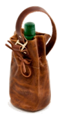 "Leather Bourbon Carrier with ""FREE"" PERSONALIZATION*"