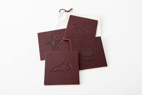 Leather Coasters - Square Design with