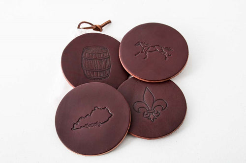 Leather Coasters - Round Design with