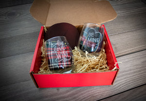 Valentine's Day Wine Glass Gift Package