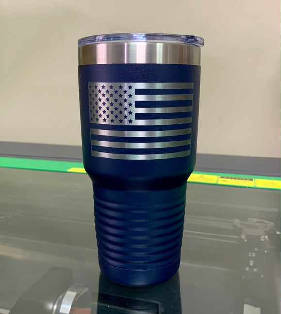 Thin Blue Line Laser Engraved Tumbler- Firebird Group, Inc.