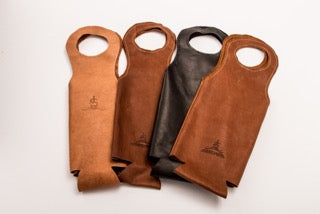 Leather Wine Carrier >> Leather Wine Spirit Tote Firebird Group Inc