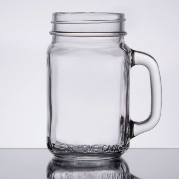 Mason Jar Glass with Handle