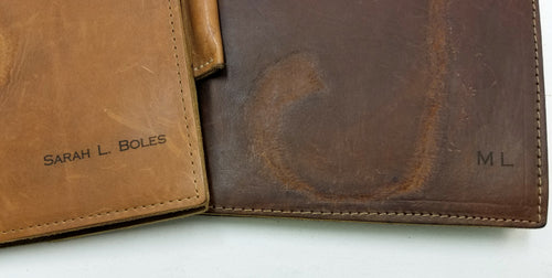 Leather Composition & Notebook with