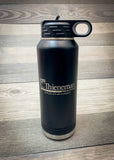 32oz. Laser Engraved Black Water Bottle- Firebird Group Inc.
