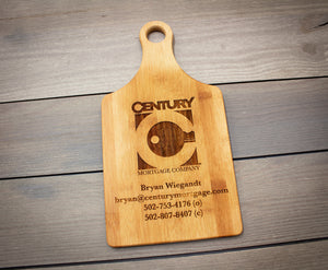 Custom Business Logo Bamboo Paddle Cutting Board