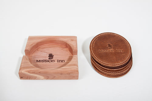 Wooden Coaster Holder for Round Design Coasters with