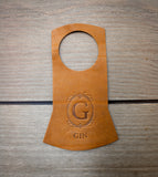 Leather Bottle Tags (Set of 4)