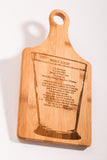 Mint Julep Recipe Engraved on a Bamboo Paddle Board