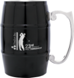 Black Metal Barrel Mug with Handle
