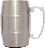Stainless Steel Metal Barrel Mug with Handle