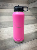 32oz. Laser Engraved Pink Water Bottle- Firebird Group, Inc.