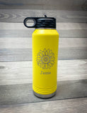 32oz. Yellow Laser Engraved Water Bottle- Firebird Group, Inc.