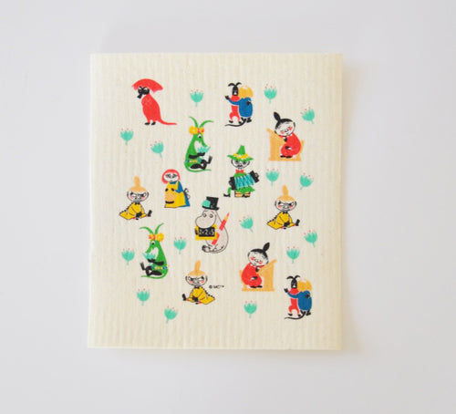 Dish Cloth - Moomin Retro Pattern