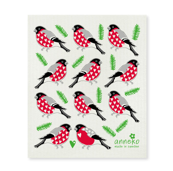 Dish Cloth - Christmas Robin