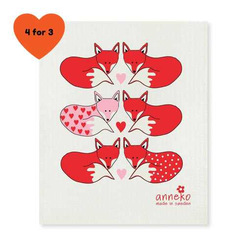 Dish Cloth - Foxes
