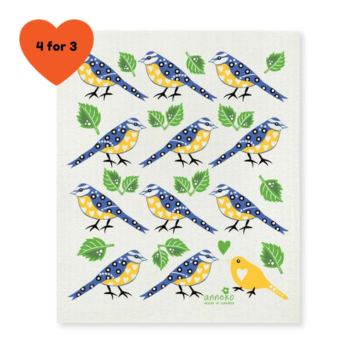Dish Cloth - Blue Tits