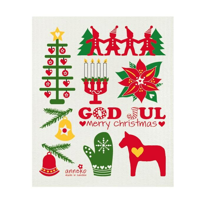 Dish Cloth - God Jul