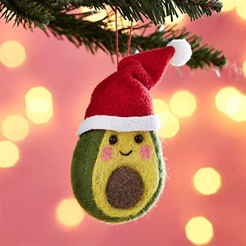 Hanging Decoration - Christmas Avocado