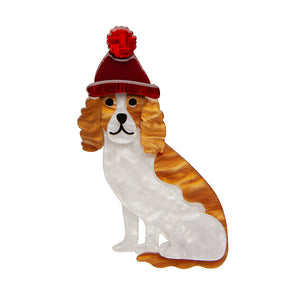 Erstwilder - Wintertime Walkies Brooch