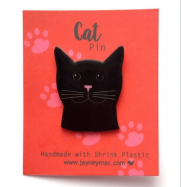 Brooch - Black Cat-Jayney Mac-Rosie Sorrell