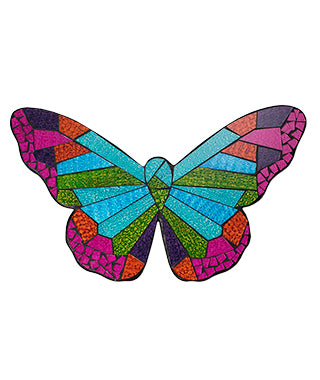 Hanging Decoration - Rainbow Mosaic Butterfly