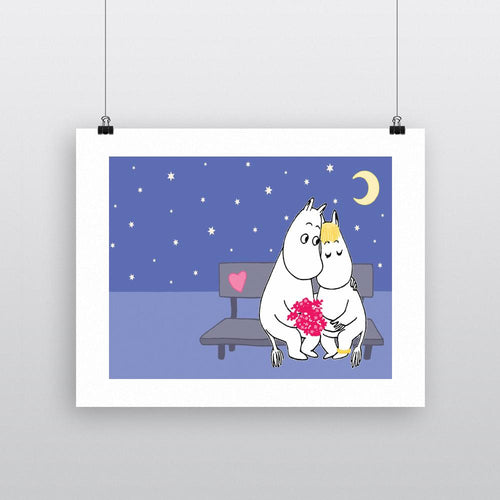 Moomin Print - Moomintroll and Snorkmaiden Love-Rosie Sorrell-Rosie Sorrell