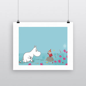 Moomin Print - Moomintroll and Little My-Rosie Sorrell-Rosie Sorrell