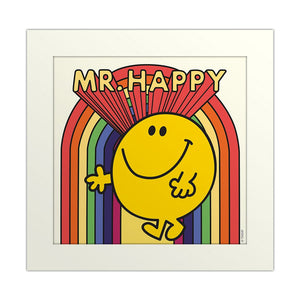 Print - Mr. Happy (Mounted) Rainbow-Rosie Sorrell-Rosie Sorrell