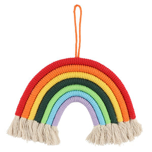 Hanging Macrame Rainbow Decoration-Rosie Sorrell