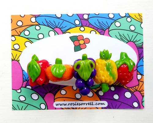Hair Clip - Rainbow Fruits