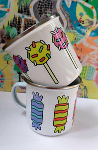 Enamel/Camping or Ceramic Mug - Sprinkle Lolly-Rosie Sorrell