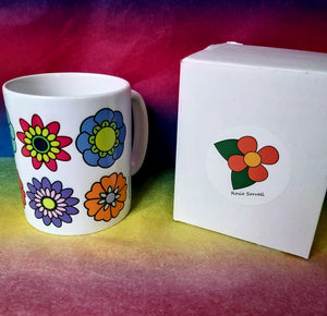 Ceramic Mug - Retro Flowers