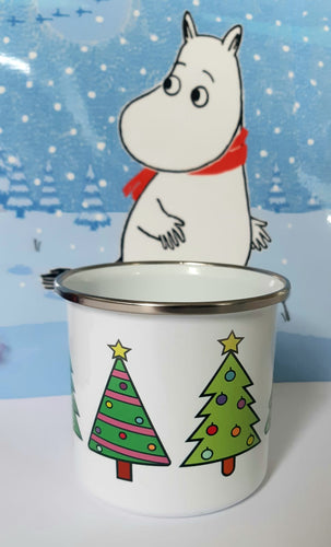 Enamel OR Ceramic Mug - Christmas Trees-Rosie Sorrell