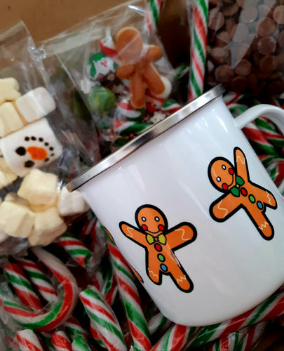Enamel OR Ceramic Mug - Christmas Gingerbread People-Rosie Sorrell
