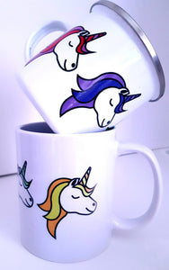 Enamel OR Ceramic Unicorn Mug