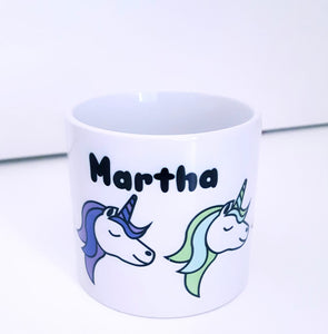 Children's Personalised Mug - Unicorns