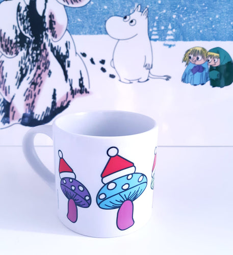 Children's Personalised Mug - Christmas Mushrooms