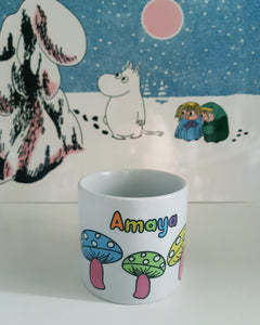 Children's Personalised Mugs - Rainbow Mushrooms