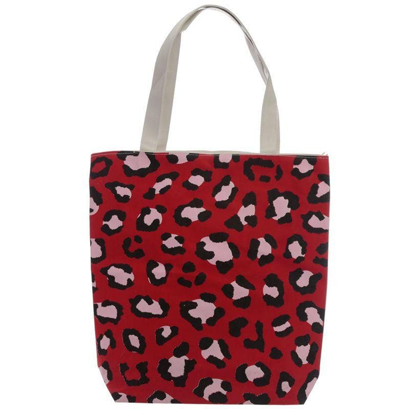 Animal Print Shopping Tote Bag-Rosie Sorrell-Rosie Sorrell