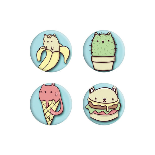 Badge 4-Pack - Cat Treats-Grindstore-Rosie Sorrell