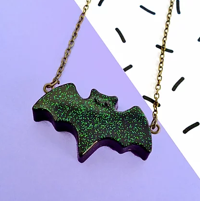 Black Bat Necklace-Lynsey Luu-Rosie Sorrell