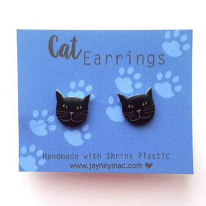 Black Cat Earrings-Jayney Mac-Rosie Sorrell