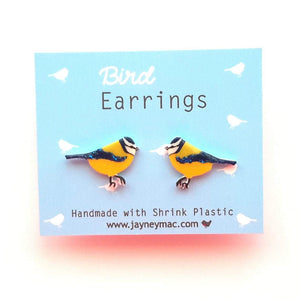 Blue Tit Earrings-Jayney Mac-Rosie Sorrell