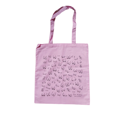 Boobs Tote Bag - Pink-Eat Mielies-Rosie Sorrell